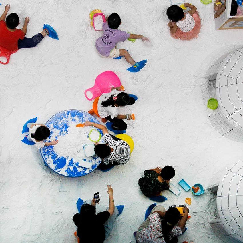 熱雪天堂探索樂園特展~在玩雪區滿足堆雪人的願望