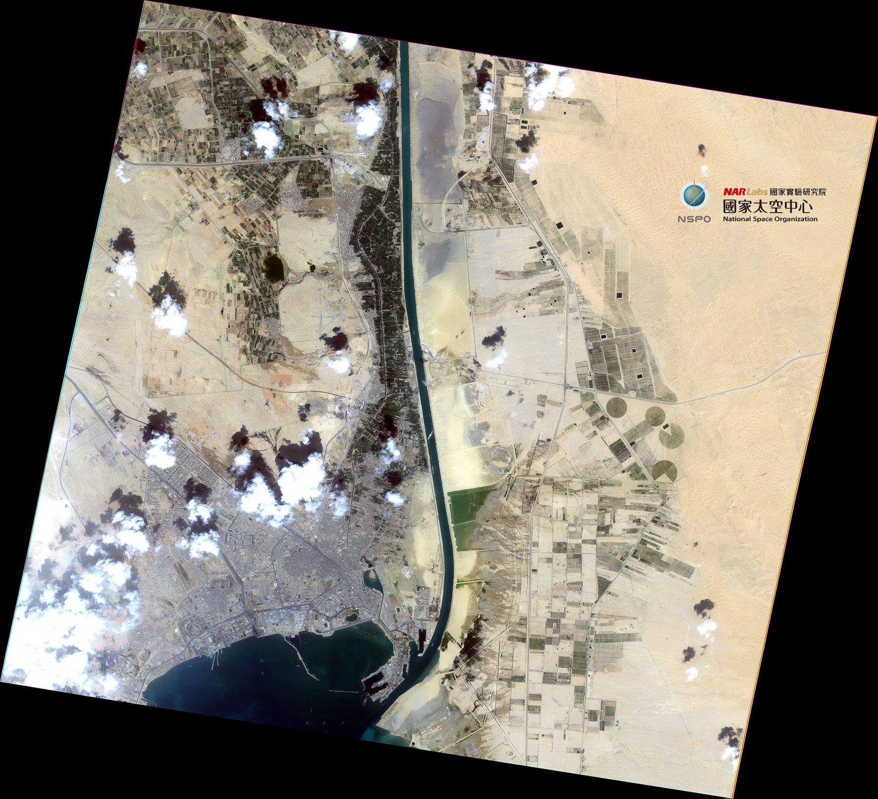  【福五衛星圖:大排長榮】~台灣的福衛五號也來支援衛星圖了~